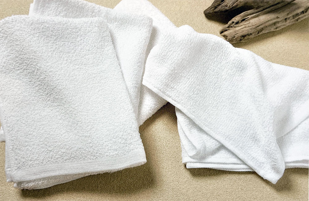 海外製白タオル総パイル