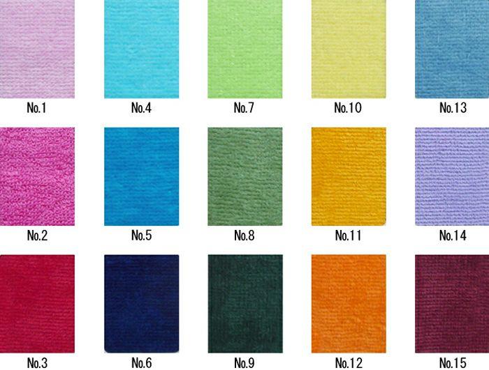 MSシャーリングカラーハンドタオルの15色