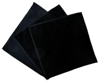 日本製シャーリング黒タオルハンカチ